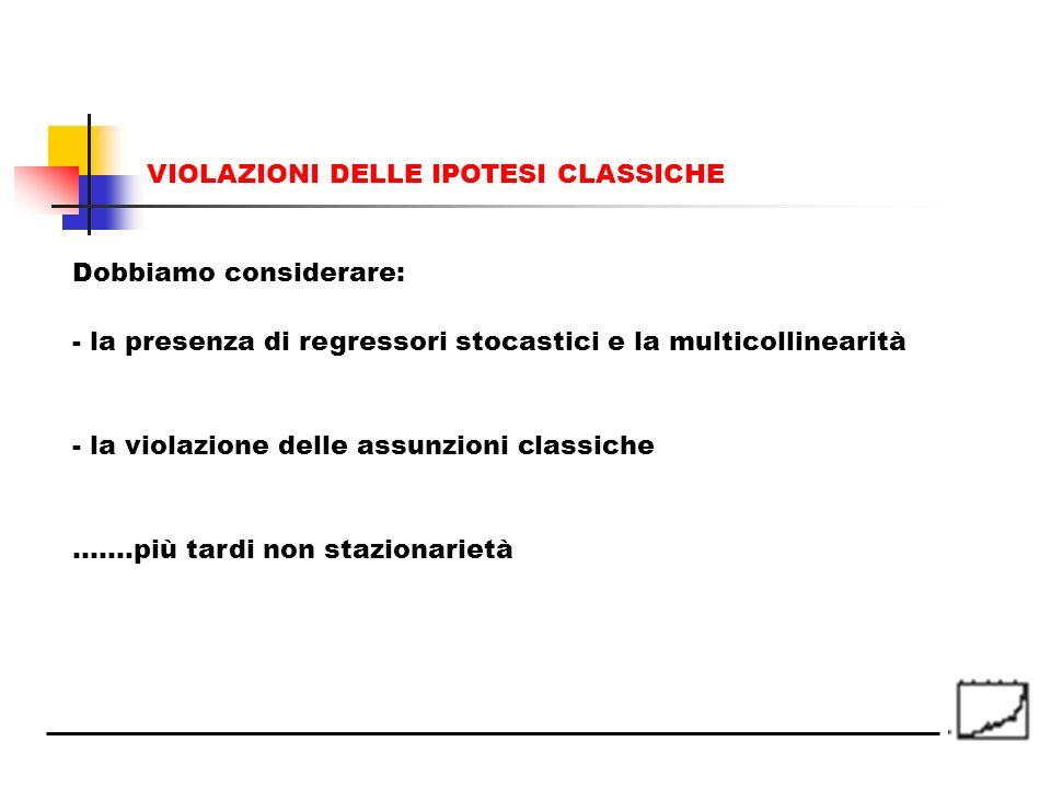___________________________ CORSO DI ECONOMETRIA ___________________________ Prof. Paolo Mattana Lezione n° 8 La violazione delle assunzioni classiche