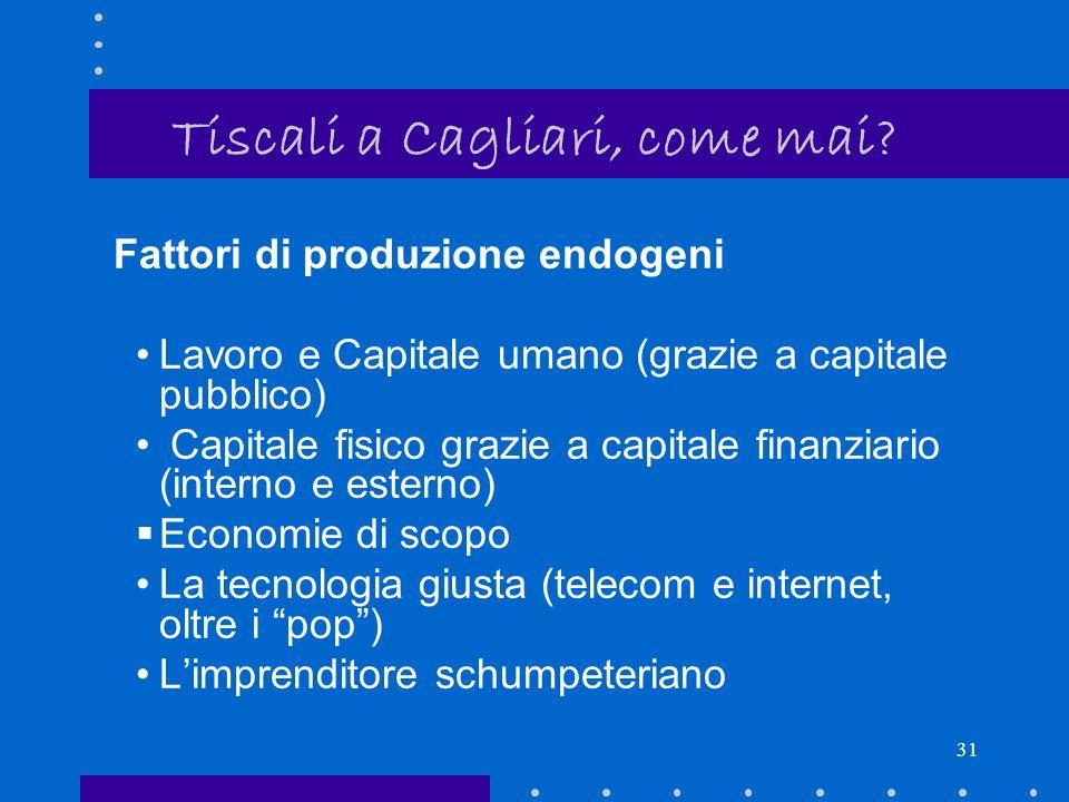 30 Tiscali a Cagliari, come mai.