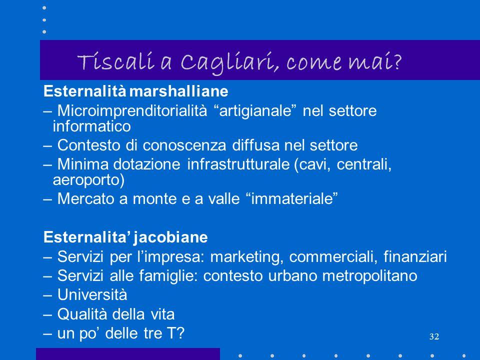 31 Tiscali a Cagliari, come mai.