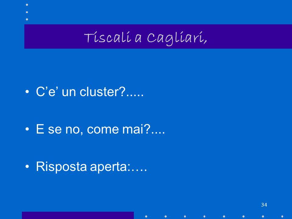 33 Tiscali a Cagliari, come mai.