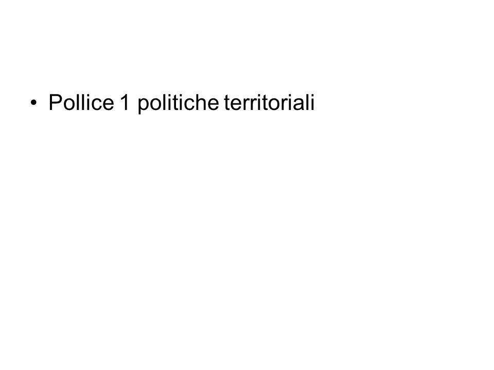 Pollice 1 politiche territoriali