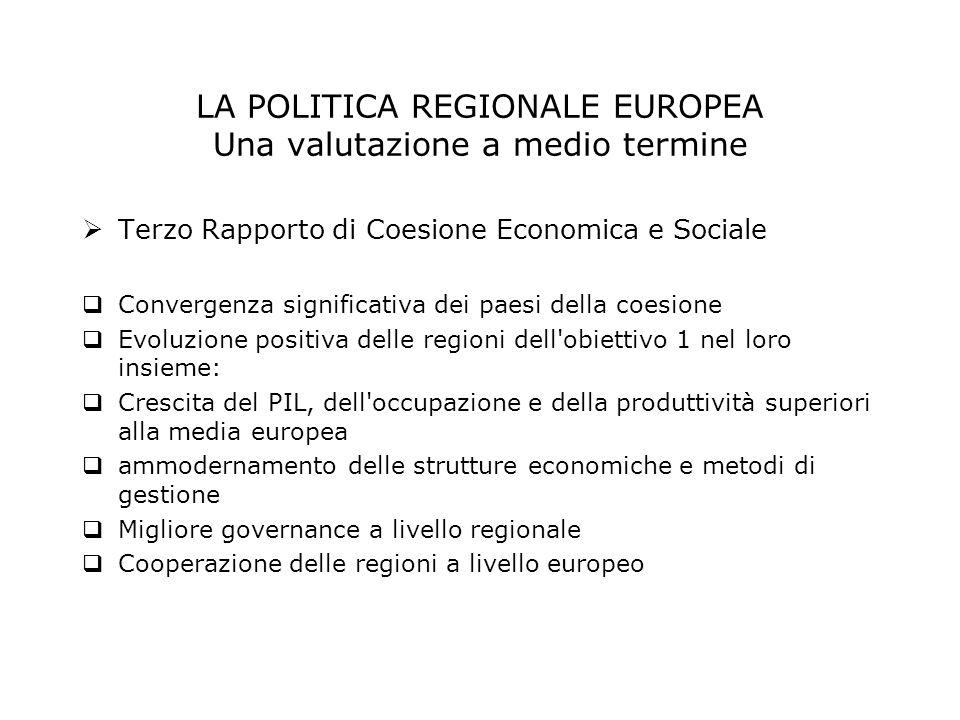 Terzo Rapporto di Coesione Economica e Sociale Convergenza significativa dei paesi della coesione Evoluzione positiva delle regioni dell'obiettivo 1 n