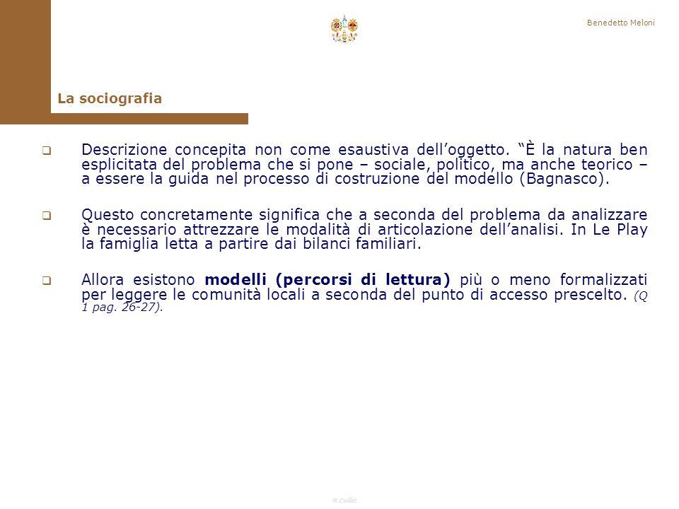 F.Callai Benedetto Meloni Come è stato risolto il problema del rapporto descrizione- spiegazione.