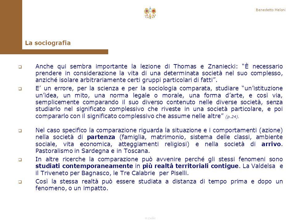 F.Callai Benedetto Meloni La comparazione.
