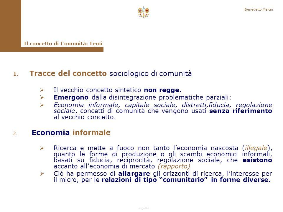 F.Callai Benedetto Meloni Il concetto di Comunità 2.