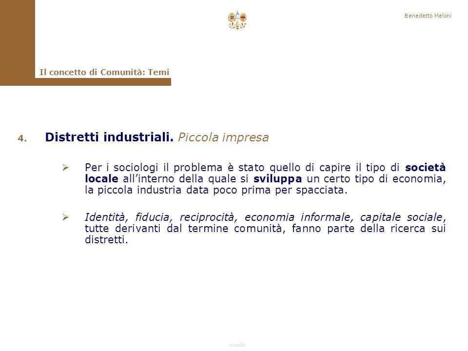F.Callai Benedetto Meloni Il concetto di Comunità: Temi 3.