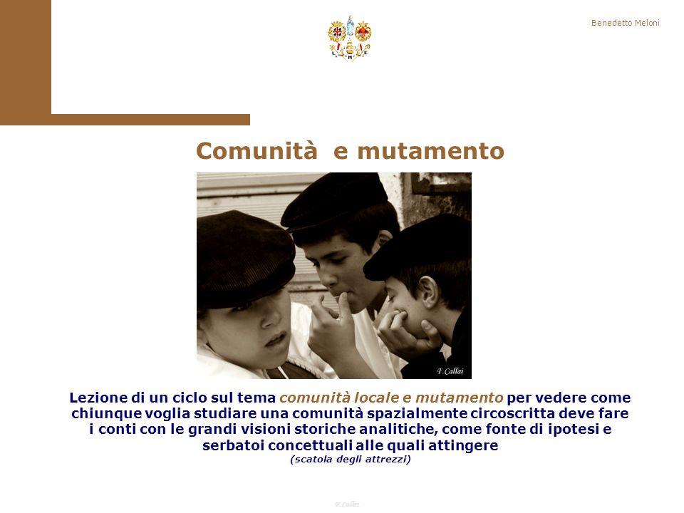 F.Callai Benedetto Meloni Il concetto di Comunità: Temi 4.
