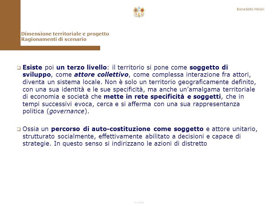 F.Callai Benedetto Meloni Questo è dovuto a fenomeni di persistenze la crisi della ruralità è meno radicale di quanto si potesse immaginare (diminuisce la popolazione addetta allagricoltura non tanto le famiglie agricole – Barberis).