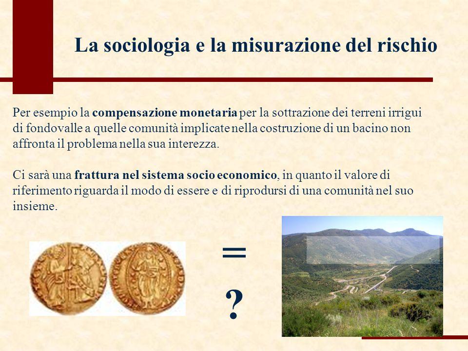Per esempio la compensazione monetaria per la sottrazione dei terreni irrigui di fondovalle a quelle comunità implicate nella costruzione di un bacino non affronta il problema nella sua interezza.