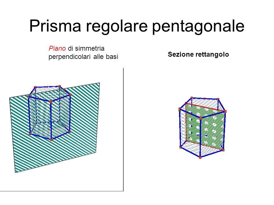 Prisma regolare pentagonale piano di simmetria mediano parallelo alle basi Sezione pentagono