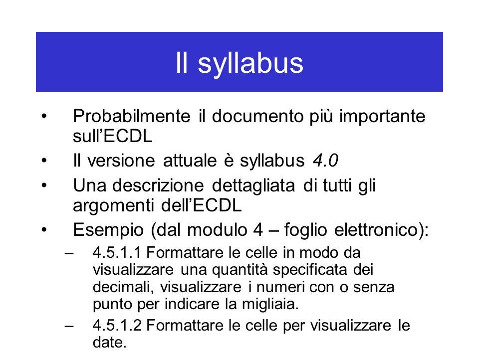 Punti fondamentali Leggere il syllabus (versione 4.0) Visionare il tutorial di ATLAS Scegliere un libro, venire alle lezioni, ecc.