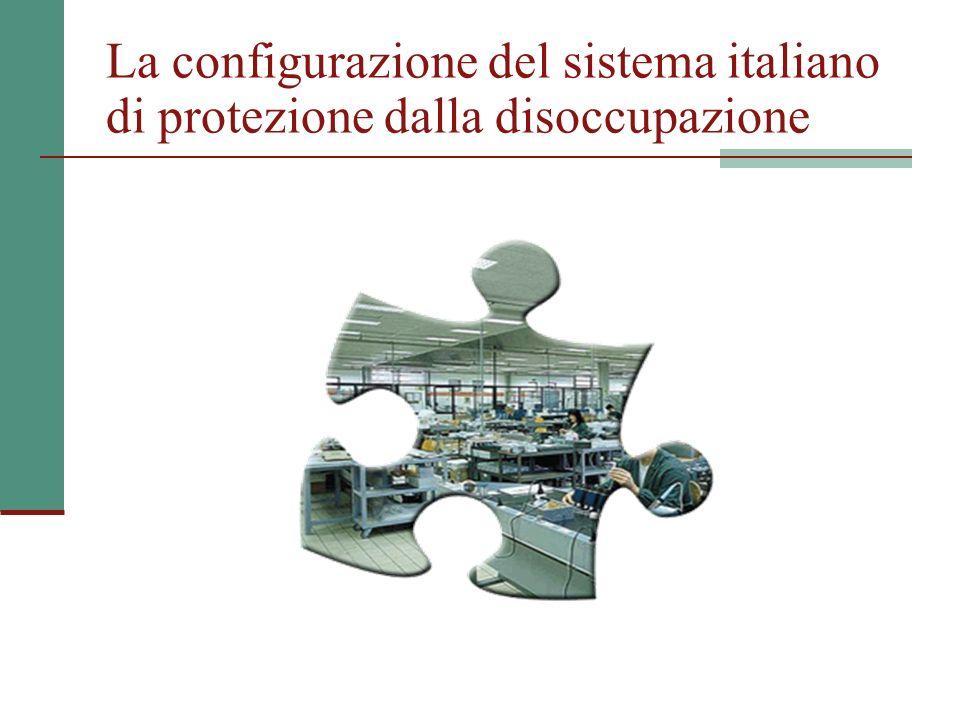 La configurazione del sistema italiano di protezione dalla disoccupazione