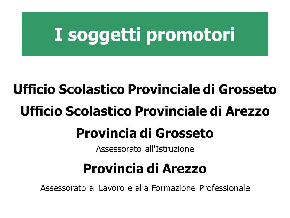 I soggetti promotori Ufficio Scolastico Provinciale di Grosseto Ufficio Scolastico Provinciale di Arezzo Provincia di Grosseto Assessorato all'Istruzi