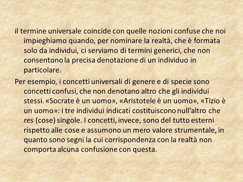 La dottrina dell intenzione prima e seconda Il tema degli universali può essere meglio affrontato a partire da due concetti definiti da Ockham intentio e suppositio.
