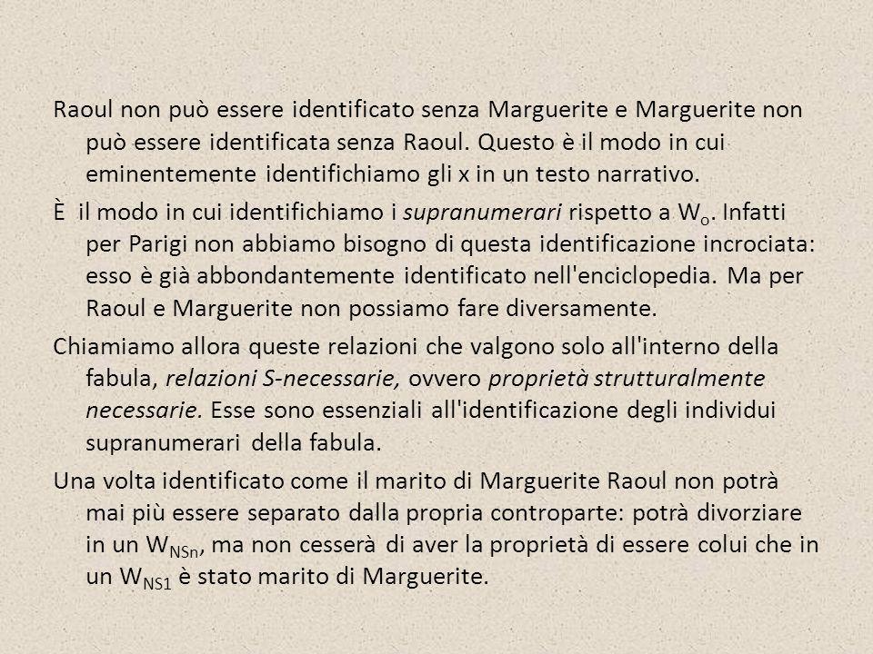 Raoul non può essere identificato senza Marguerite e Marguerite non può essere identificata senza Raoul. Questo è il modo in cui eminentemente identif