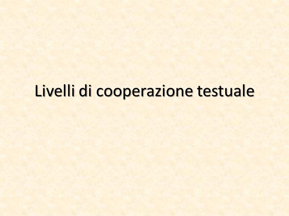 Livelli di cooperazione testuale
