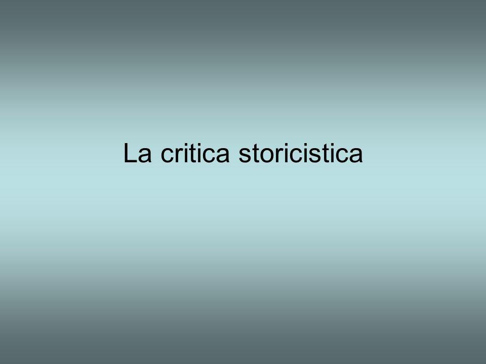La critica storicistica