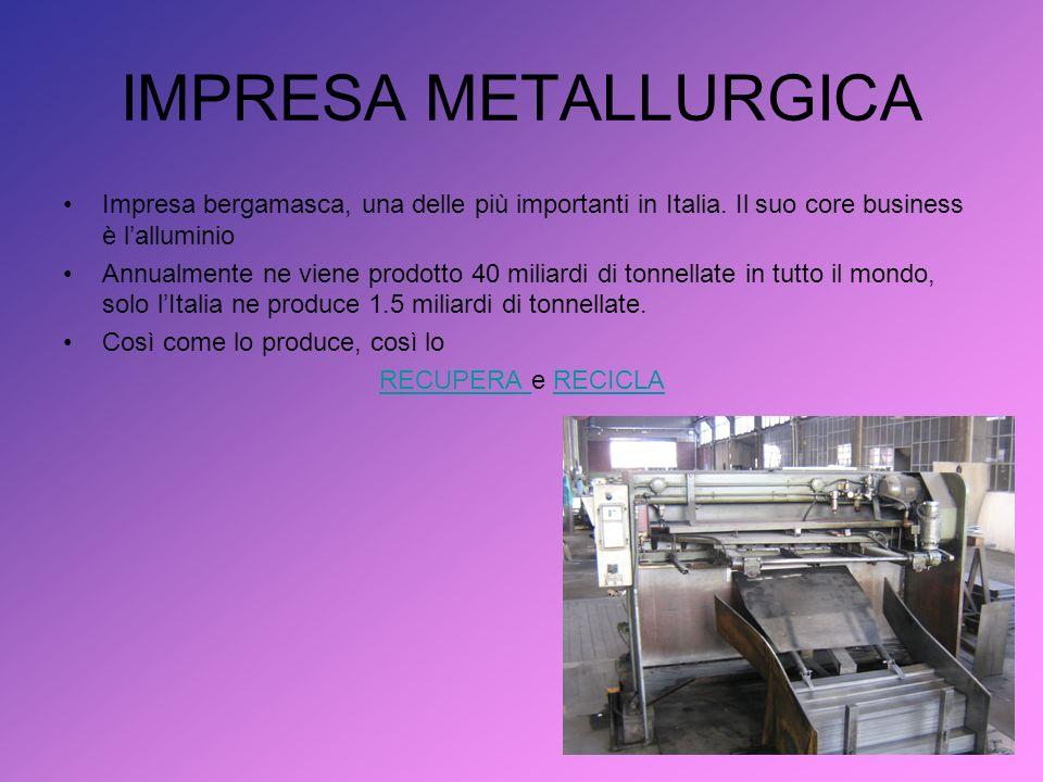 IMPRESA METALLURGICA Impresa bergamasca, una delle più importanti in Italia.
