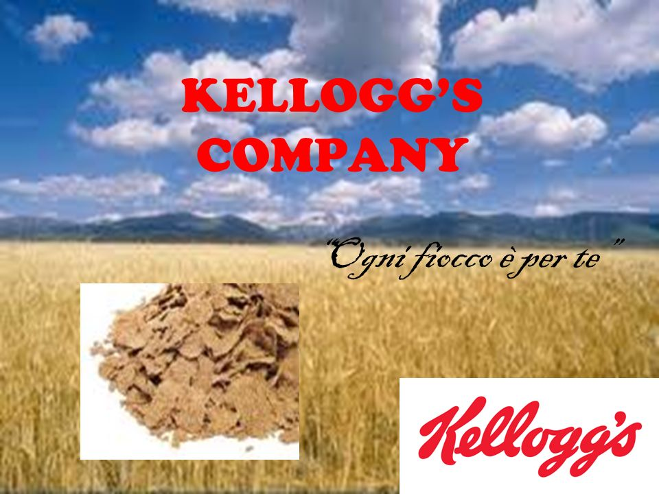 Kelloggs Company Storia Core business Target Mission Marketing