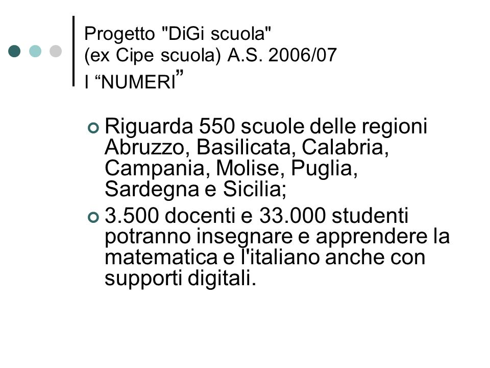 Progetto DiGi scuola (ex Cipe scuola) A.S.