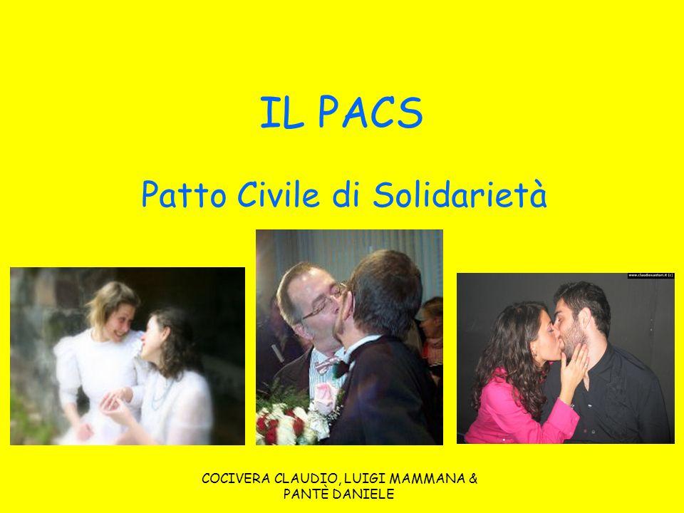 COCIVERA CLAUDIO, LUIGI MAMMANA & PANTÈ DANIELE IL PACS Patto Civile di Solidarietà