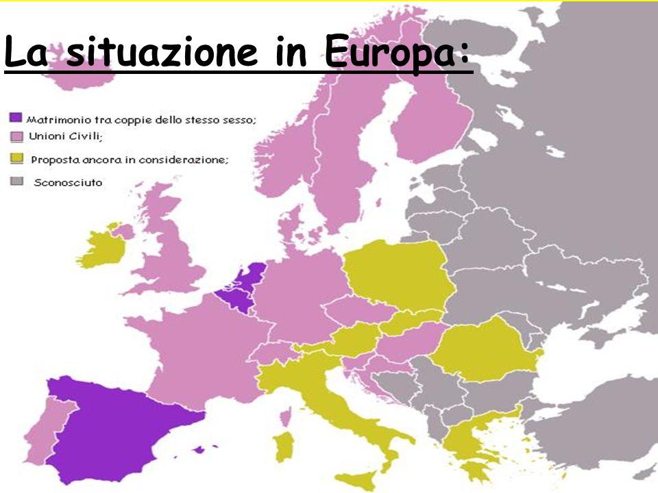 COCIVERA CLAUDIO, LUIGI MAMMANA & PANTÈ DANIELE La situazione in Europa: