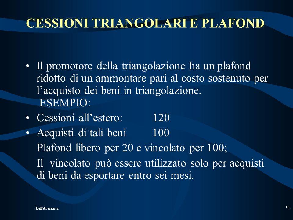 Dell'Aversana 12 CURA DEL TRASPORTO 2) : DE ( operatore comunitario ) ritira i beni dal magazzino di IT (franco fabbrica) e cura il trasporto in Svizz