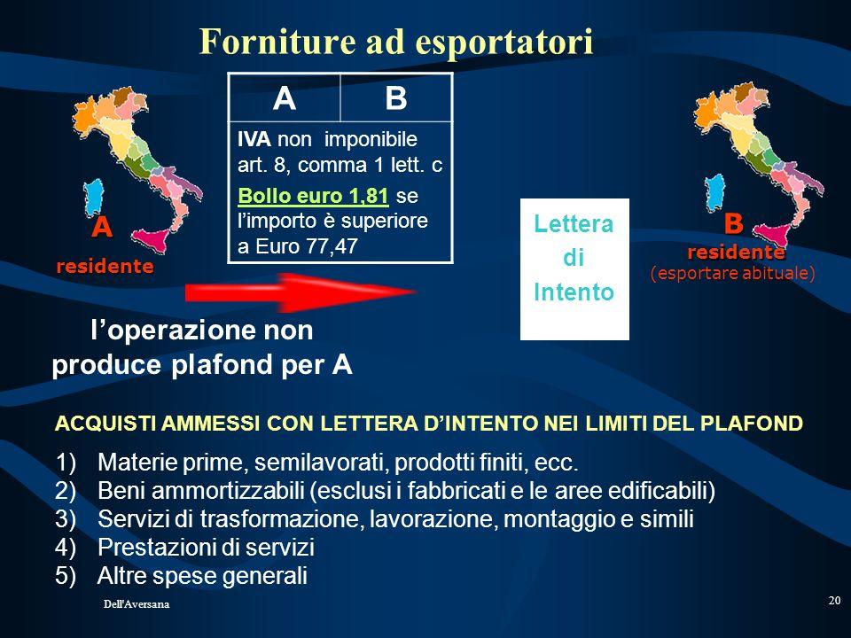 Dell'Aversana 19 Vendita a soggetti non residenti nella UE (art. 38- quater) L'operatore nazionale può addebitare l'imposta al viaggiatore straniero,