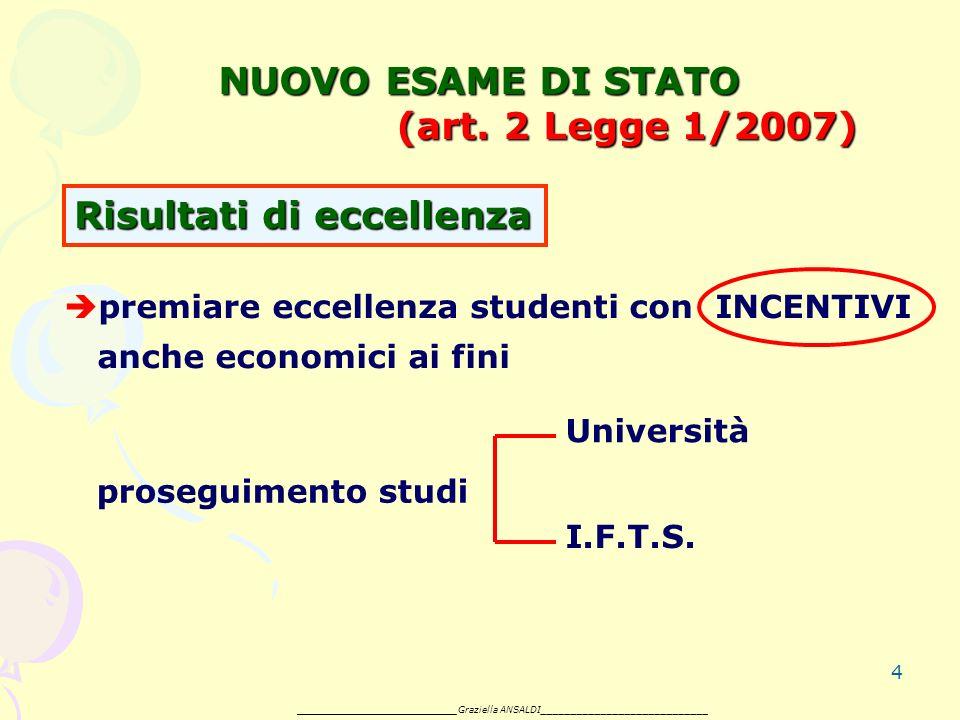4 NUOVO ESAME DI STATO (art.
