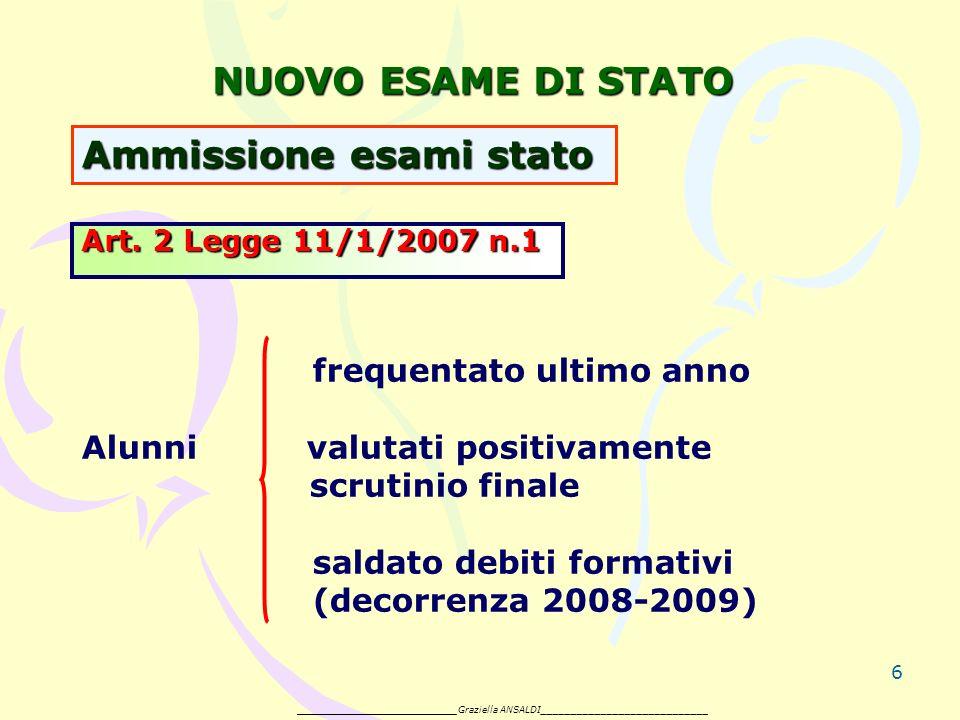 6 NUOVO ESAME DI STATO Art.