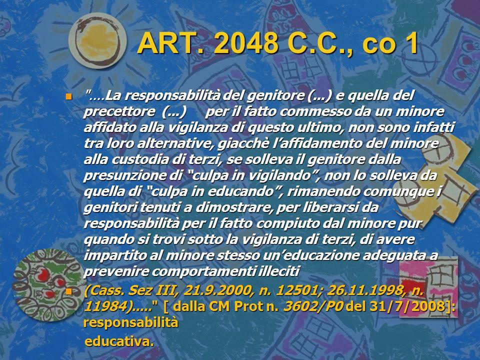 ART. 2048 C.C., co 1 n