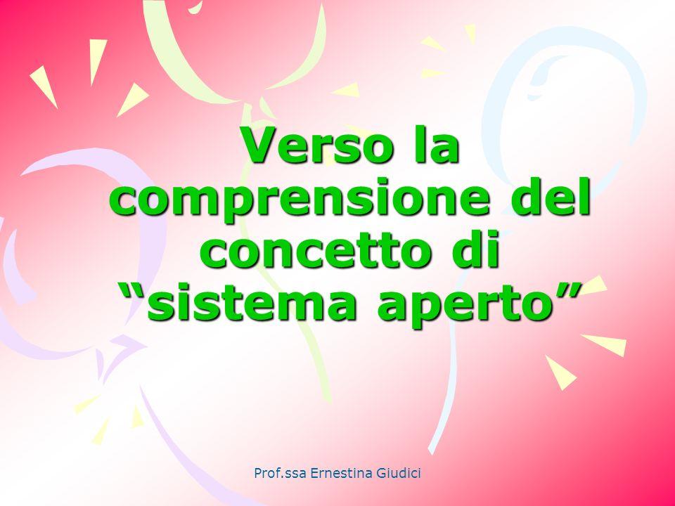 Prof.ssa Ernestina Giudici Nasce la Teoria Generale dei sistemi Scienza che studia le leggi di funzionamento dei sistemi