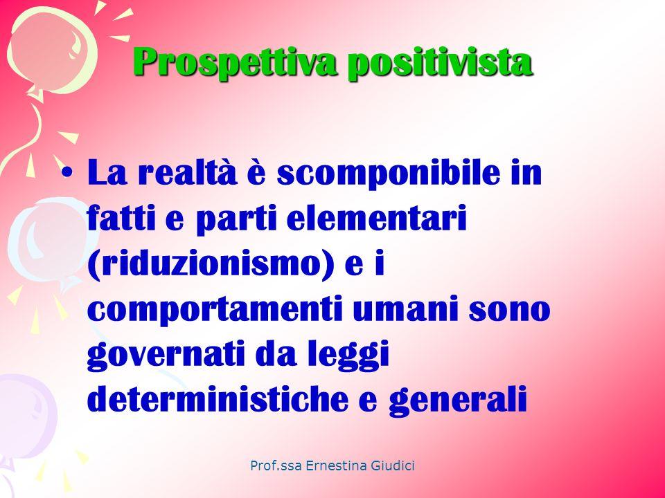 Prof.ssa Ernestina Giudici Cosa si intende per sistema.
