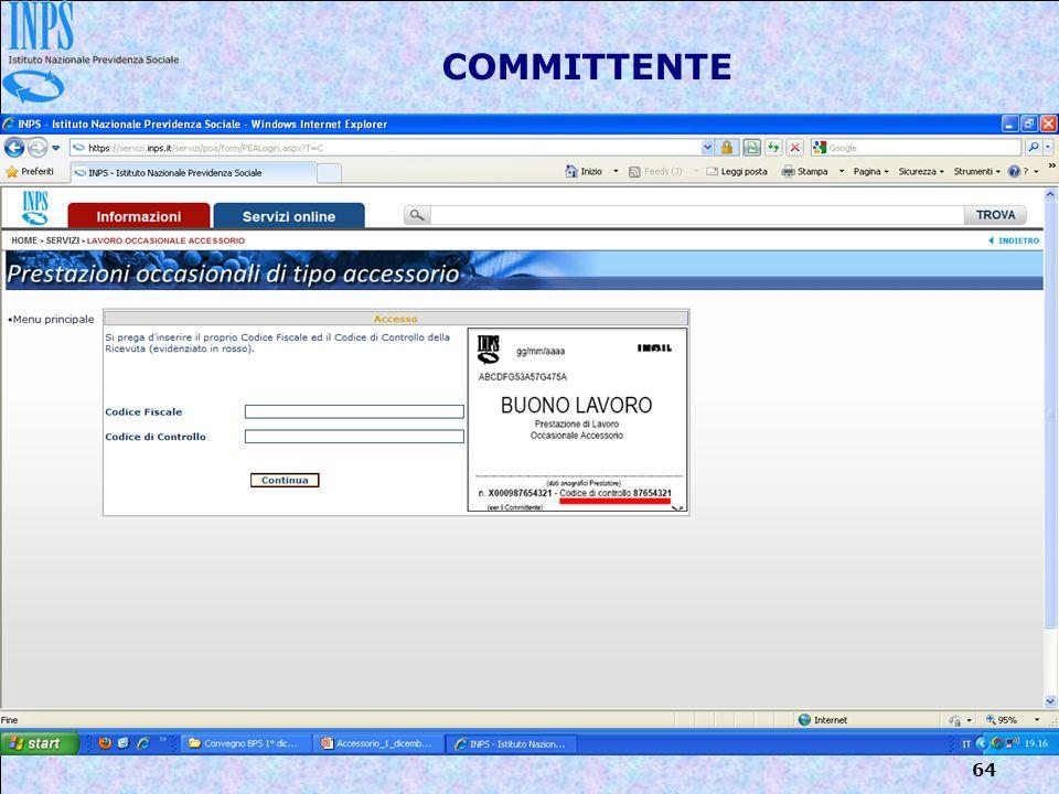 64 COMMITTENTE