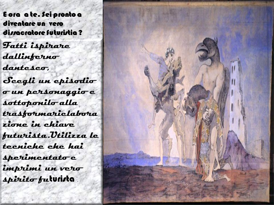 Risorse web- prima tappa- I manifesti Entra nel mondo del futurismo guidato da un Virgilio speciale http://it.youtube.com/watch?v=7zHYApsp sJg Informazioni sul futurismo it.wikipedia.org/wiki/Manifesto_ del_futurismo Manifesto letteratura futurista http://www.futurismo.altervist a.org/intro.htm Il controdolore www.irre.toscana.it/futurismo /opere/manifesti/controdol ore.htm Uccidiamo il chiaro di luna http://www.italicon.it/schede/ T058-002.pdf