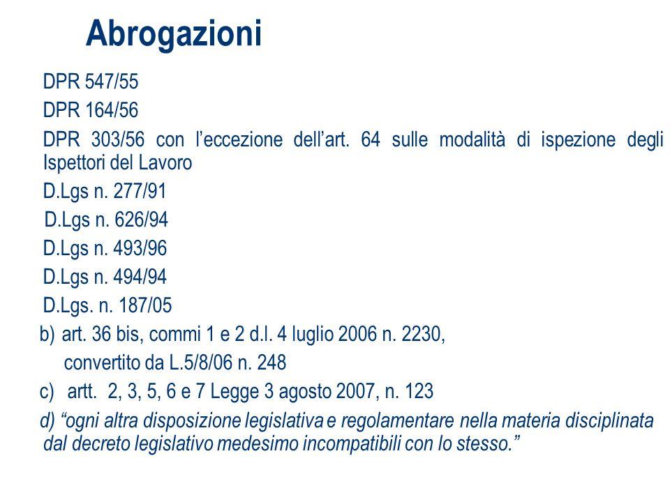 DPI ed obblighi informativi - Riunione periodica > 15 dipendenti Rischi in caso di appalto, contratto dopera, somministrazione Decreto Legislativo 81/2008: Art.