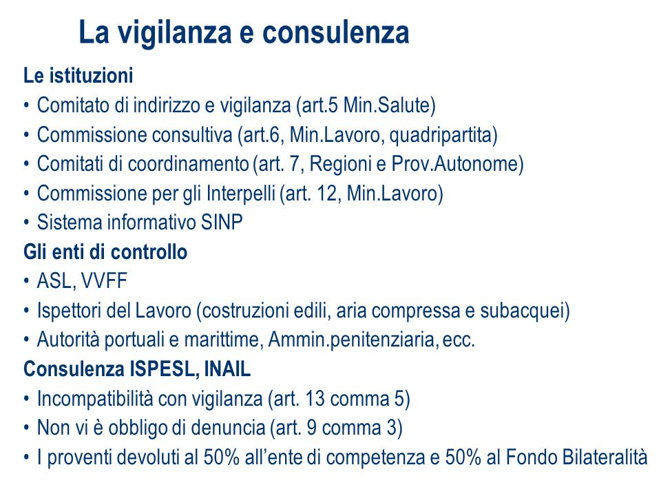 Rapporti Bilaterali e Consultazione dei lavoratori.