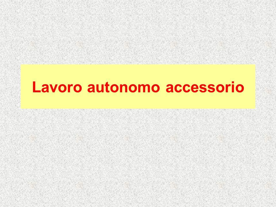 Lavoro autonomo accessorio