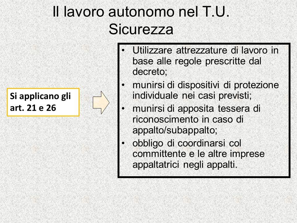 Il lavoro autonomo nel T.U.