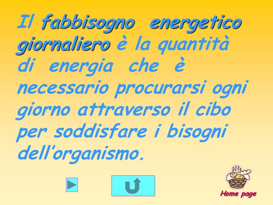 fabbisogno energetico giornaliero Il fabbisogno energetico giornaliero è la quantità di energia che è necessario procurarsi ogni giorno attraverso il