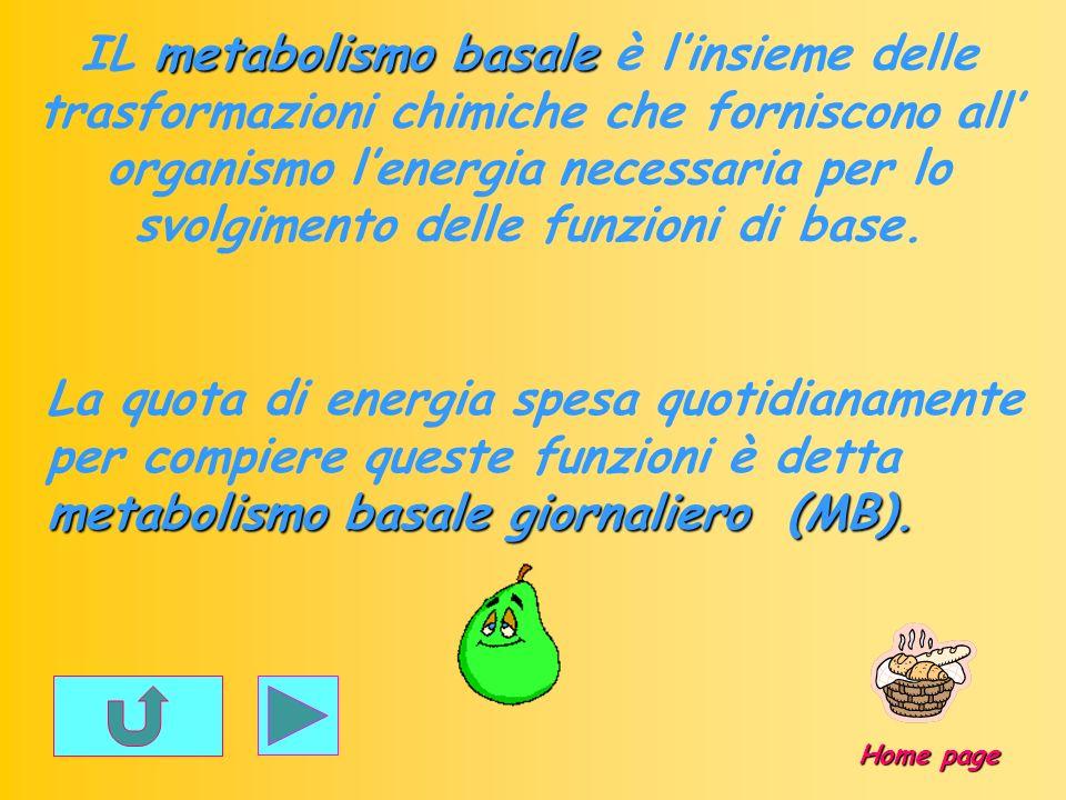metabolismo basale IL metabolismo basale è linsieme delle trasformazioni chimiche che forniscono all organismo lenergia necessaria per lo svolgimento