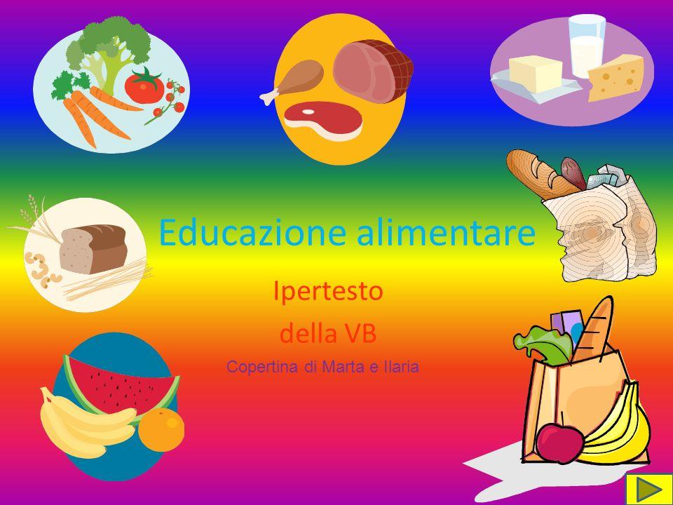 Educazione alimentare Ipertesto della VB Copertina di Marta e Ilaria