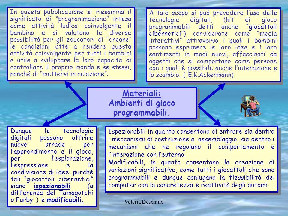 Valeria Deschino Materiali: Costruire, lanciare, assemblare: profili per ambienti di apprendimento costruttivo-dialogici.