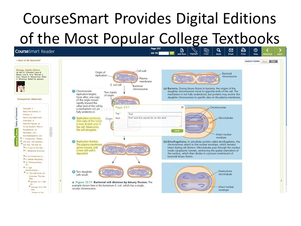CourseSmart Provides Digital Editions of the Most Popular College Textbooks