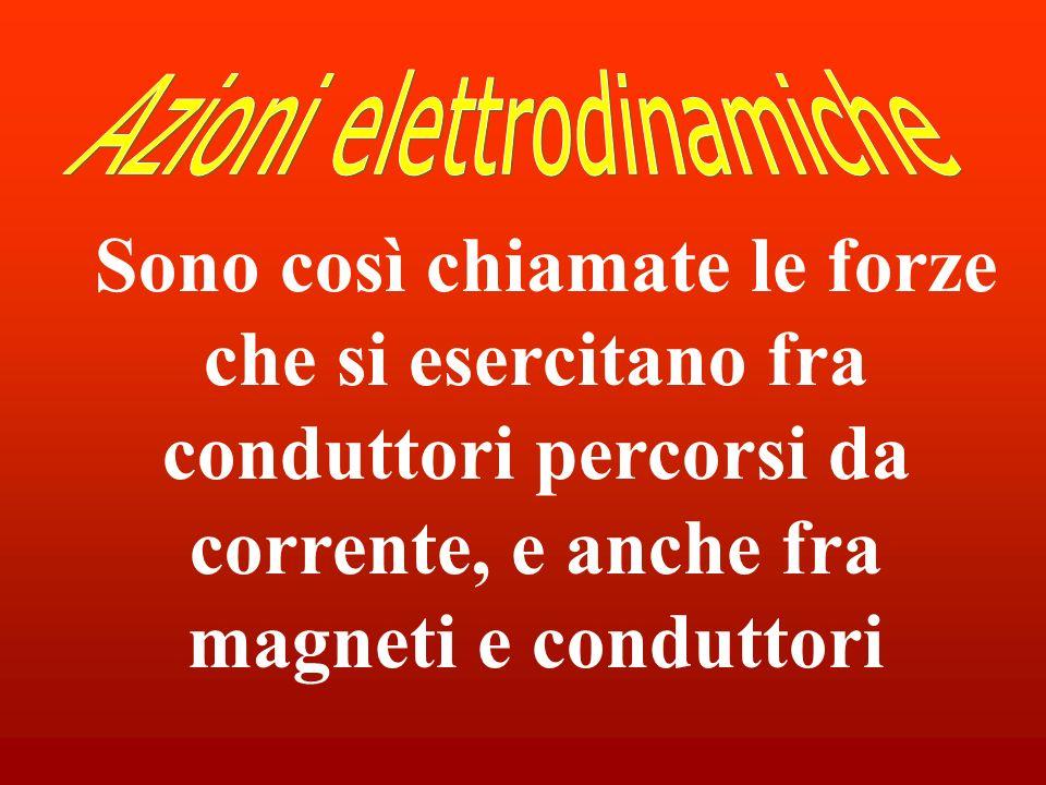 Sono così chiamate le forze che si esercitano fra conduttori percorsi da corrente, e anche fra magneti e conduttori