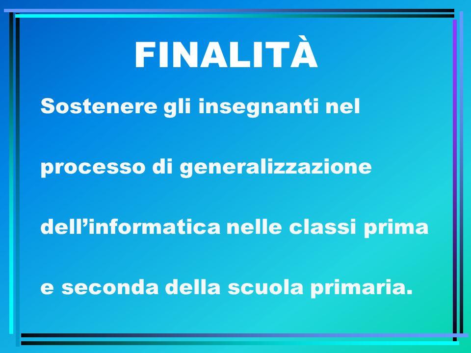 FINALITÀ Sostenere gli insegnanti nel processo di generalizzazione dellinformatica nelle classi prima e seconda della scuola primaria.