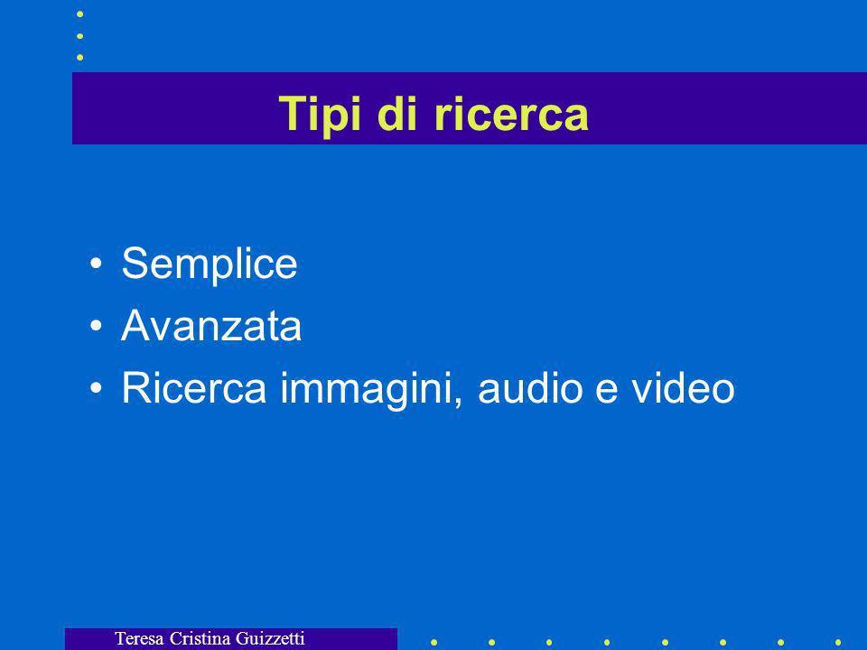 Teresa Cristina Guizzetti Quando usare portano allhome page di un sito che si deve poi esplorare, quindi...