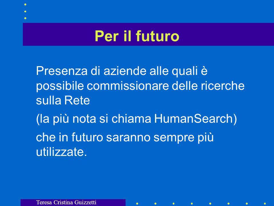 Teresa Cristina Guizzetti PULL o PUSH Ciò che Internet è stato finora: cyberspazio caotico e immenso nel quale cercare Fruizione passiva della rete; opposto di ricerca.