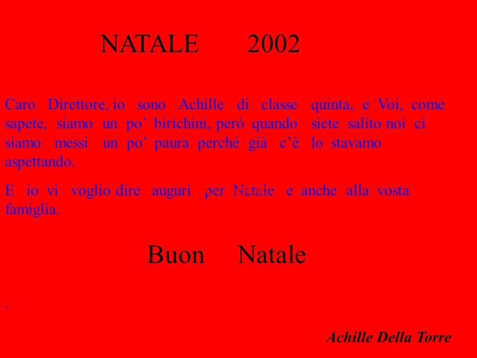 Buon Natale Achille Della Torre