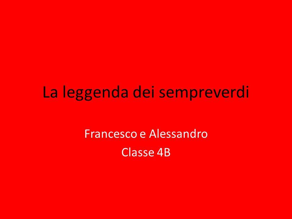 La leggenda dei sempreverdi Francesco e Alessandro Classe 4B